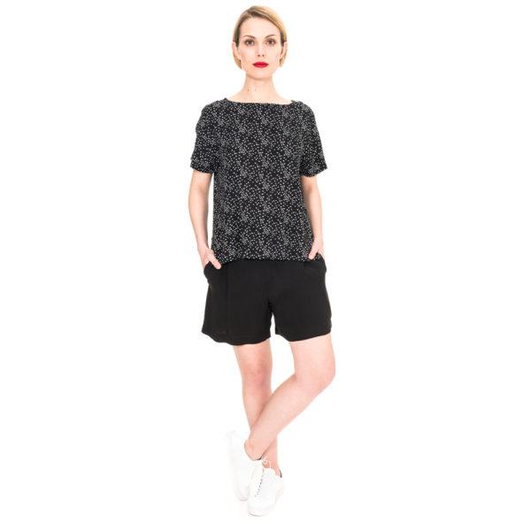 schwarze Sommer Shorts mit bequemen Jerseybund