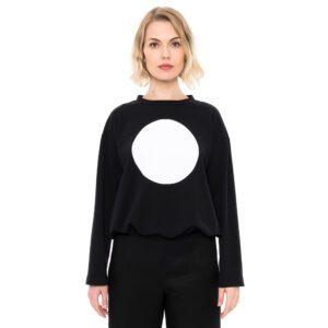 ulliKo Sweater Circle schwarz weiss