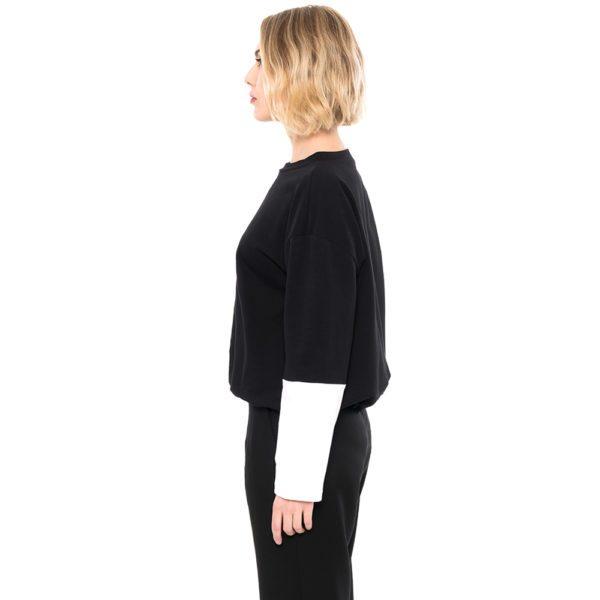 ulliKo Sweater schwarz weiss