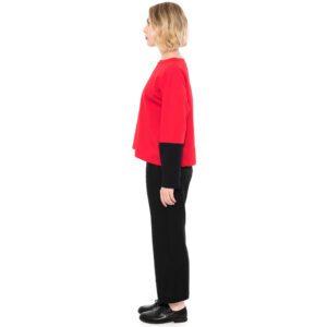 ulliKo Sweater Rot-Schwarz