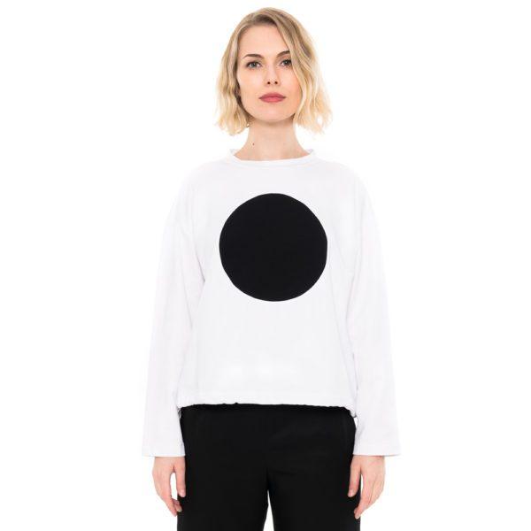 ulliKo Sweater Circle weiss