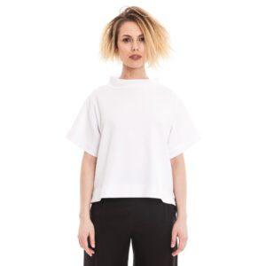 weisses Sommershirt aus Baumwolle mit Waffelstrucktur von ulliKo