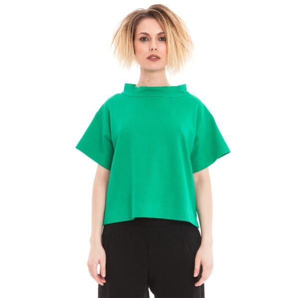 sommershirt in smaragdgrün von ulliko