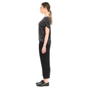 jersey shirt in schwarz weiß Muster von ulliKo