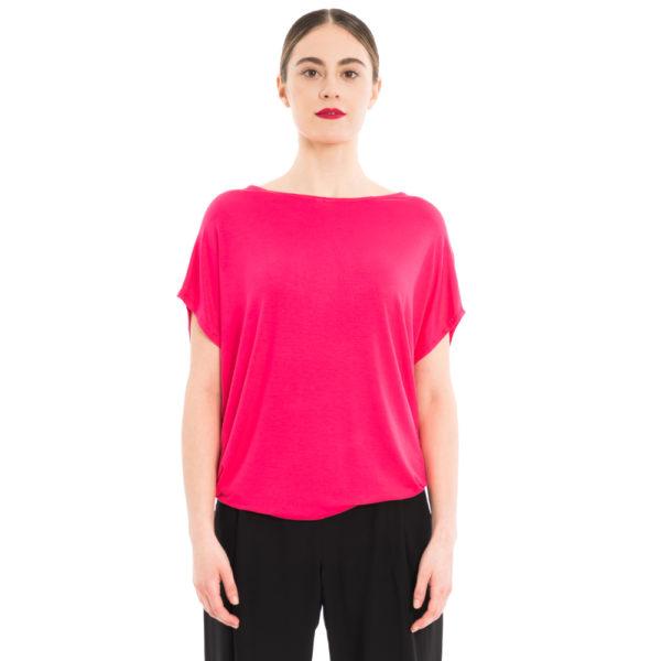 sommerliches Bambus Shirt in Pink