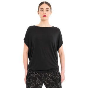 schwarzes Shirt aus Bambus Jersey