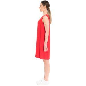 rotes Sommerkleid aus Viskose