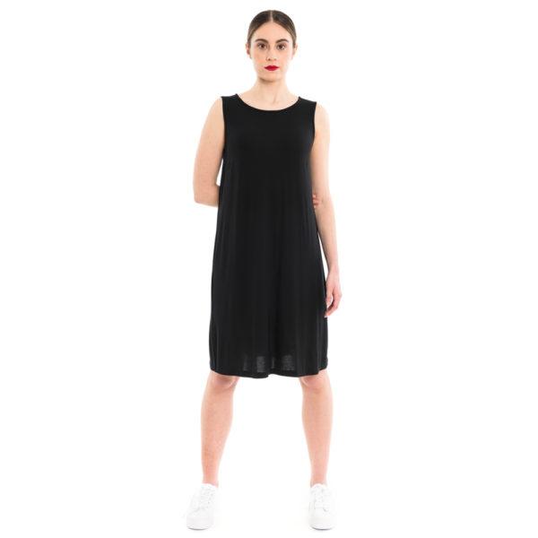 schwarzes Sommerkleid aus Bambus Jersey