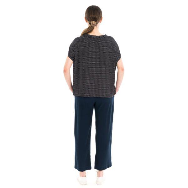 Boxy Shirt schwarz weiss getupft