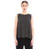 Jersey top mit schwarz-weiß Print